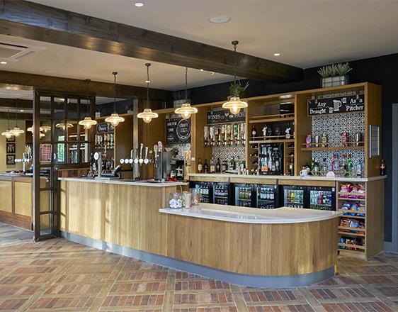 Bar design Lincolnshire, servery